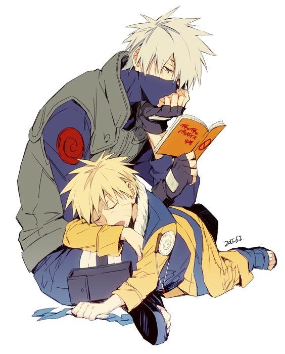 Sleeping Naruto On Kakashi Anime Images