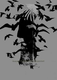 itachi uchiha turning into crows picture anime images