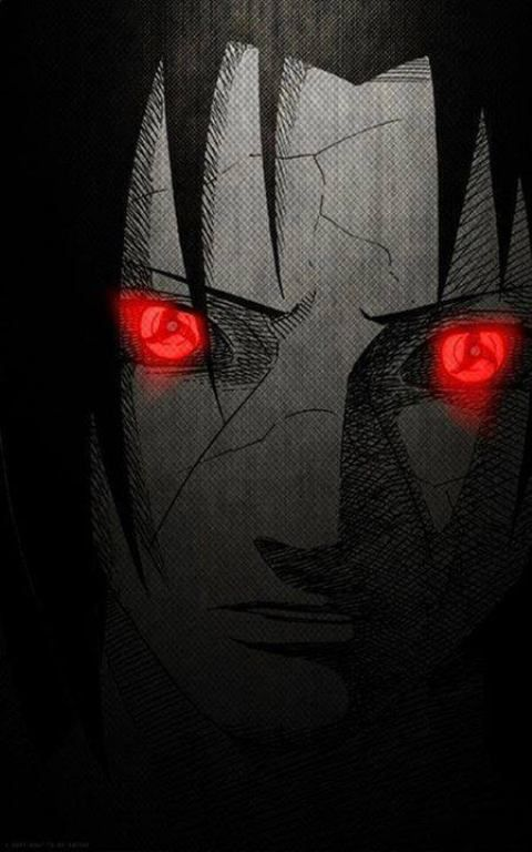 Reanimated Itachi Uchiha With Glowing Sharingan | Anime Images